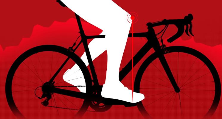 Posición de la rodilla al pedalear