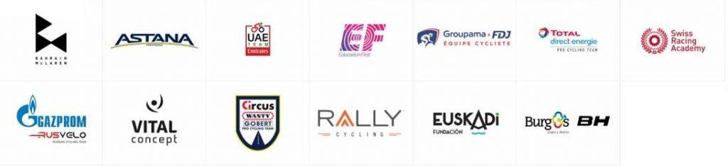 Patrocinadores de equipos masculinos de carretera Prologo