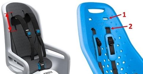 Altura de correas ajustable silla de bebé