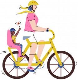 Silla de bebe bicicleta dibujo